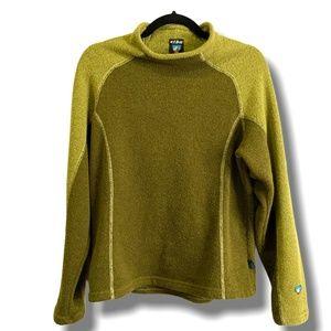 KUHL Green Fleece Alfpaca Pullover Made in Canada